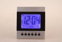 Cheapest factory price Multifunction LCD Weather Station Clock With Thermometer digital desk alarm clock