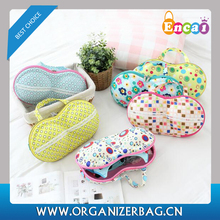 Encai Fashionable EVA Bra Bag Organizer Travel Lightweight Underwear Storage Bag Wholesale