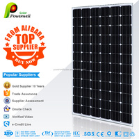 Powerwell Solar 200W Mono Super Quality and Competitive Price CE/IEC/TUV/ISO/INMERTO Approval Standard Solar Power Plant 1MW