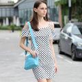 YIGELILA 2013 Vestido de punto de polca de moda de señora 6394