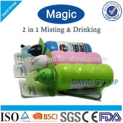 Creative Magic 2 in 1 Misting&Drinking FDA BPA Free Sport Bottle With Cooler