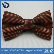 Stylish mens formal checked bow school ribbon bow tie