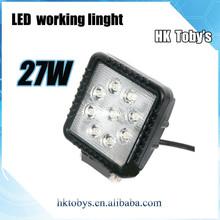 super bright 27w square LED WORK LIGHT auto headlight led work light truck