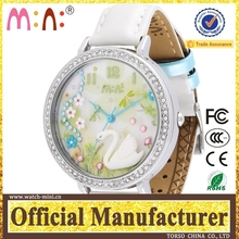 high quality handmade polymer clay 3D geneva genuine leather casual wristwatches fashion curren watch women