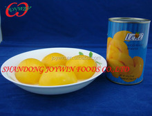 Canned yellow peach syrup with FDA, BRC,HACCP,IFS