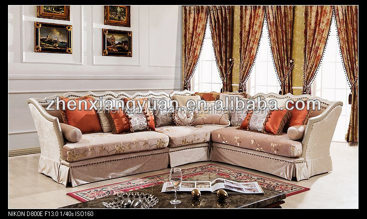 2015 Living Room Furniture Usa Style Corner Sofa Classical Sofa Fabric Sectio