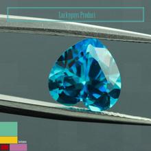 unique zircon hot selling Deep purple, blue egg shape 9*11 zircon stone