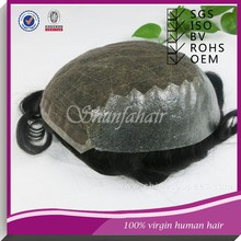 High quality 100% indian hair unit ,cheap toupee for men , hair system