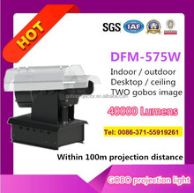 HD 575w gobo projector with one image rotating around another