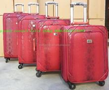 snake skin leather 4 pcs set spinner Luggage suitcase