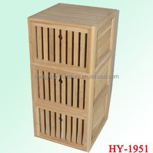 Natural bamboo color with 3 drawers cabinet