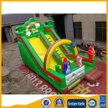 Cheap Commercial tropical jungle giant Inflatable Slide for sale