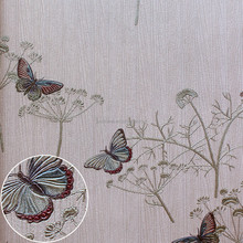 Hot Italian deep embossed Flower high classis pvc wallpaper for bathroom