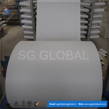 White woven PP fabric in rolls for making bags