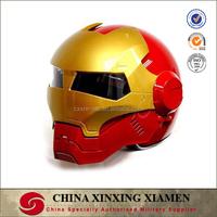 New Arrivals Design Comic Ironman Top Personal Tailor Full Face Glass Fiber capacete ECE Racing Motorcycle Helmet