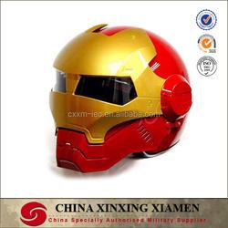 New Design Top Personal Tailor Comic Ironman helmet Glass Fiber Capacete Ece Racing Full Face Motorcycle Helmet