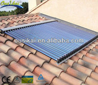 European style evacuated solar collector, heat pipe solar thermal collector (30 tubes)