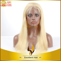 Wholesale silk straight human hair blonde lace front wigs best quality 7A grade good price human hair blonde lace front wigs