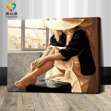 modern woman portrait painting abstract woman oil painting