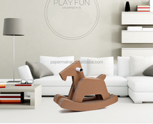 2015 new design cardboard eco-friendly Children Rocking Chair