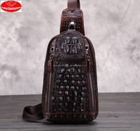 crocodile leather One shoulder men bags/guangzhou handbags/leather bags factory