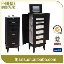 Nice Design Tailored Fashion Furniture Wooden Jewelry Case Mirror Cabinet