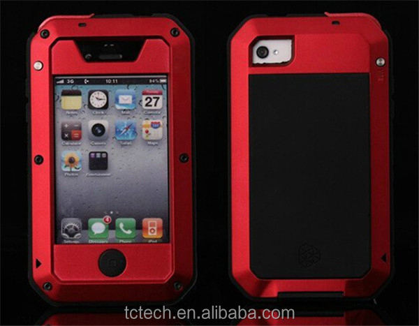 Top selling gorrila glass aluminum waterproof case for iPhone 5