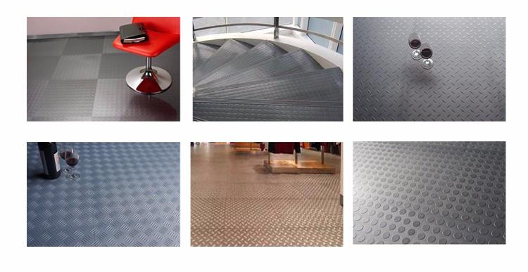 PVC 원형 스터드 패턴 미끄럼 방지 차고 사용 pvc 비닐 타일 차고 ...