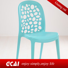 Pure color light easy to move commercial design plastic chairs for church