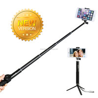 2015 Latest phone selfie stick for lenovo a850 blue tooth selfie stick colorful smartphone monopod selfie stick