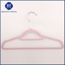 Top quality fancy short velvet clothes hanger