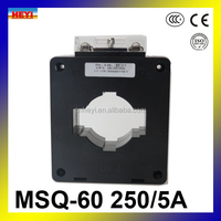 Low voltage current transformer core BH type window type current transformer 250/5a MSQ-60