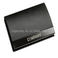 New Black Pocket Leather Business ID Credit Card Holder Case Wallet cover