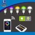 Langma 64 milhões de cores em mudança, rgbw 9w e27 lâmpada led, ac86-264v, a mudança pode ser escurecido led globo bola lâmpada, ce rohs mi. Luz wifi