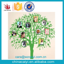 custom print tree family decal on wall with photo plastic