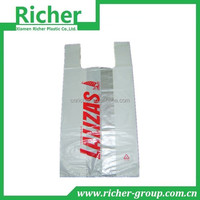 customized very large plastic bags with vest handle