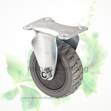 Grey Polyurethane Fixed Or Swivel Industrial Caster For Trolley Wheel