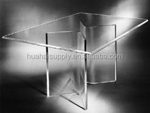 Transparent Novel Rectangle Glass Coffee Table