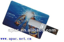Factory fancy plastic credit card usb with 5 years warranty
