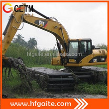 Machinery for deep water construction amphibious excavator able to work in 1.2-5m deep water