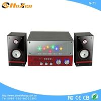 professional 2.1 mirror panel touch control screen bass active multimedia fm radio mini digital speaker N-23 made in china