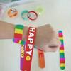2014 The newst design promotional high quality silicone slap bracelet silicone slap wristband