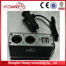 USB socket with two ports and two sockets can customized electric current