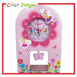 Wooden desktop alarm clock, decorative desk clock table colck