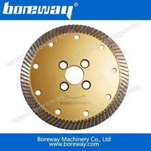 Professional 125mm Flange Plate Turbo Wave Blade With Hot Pressed