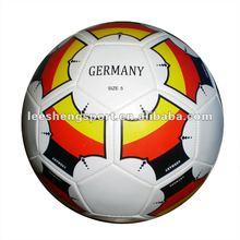 Machine stitched PVC leather football