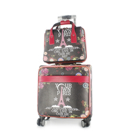Set of 2pcs Travel Select Two Piece Carry-On Luggage Trolley With Wheel