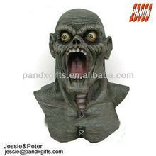 Horror gray monster halloween party mask