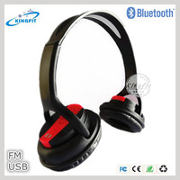 China Cheap Bluetooth Wireless MP3 Headphone with SD Card Player