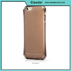 shockproof dots design for iphone 6 plus transparent silicone case